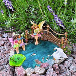 fairy garden fish pond kit