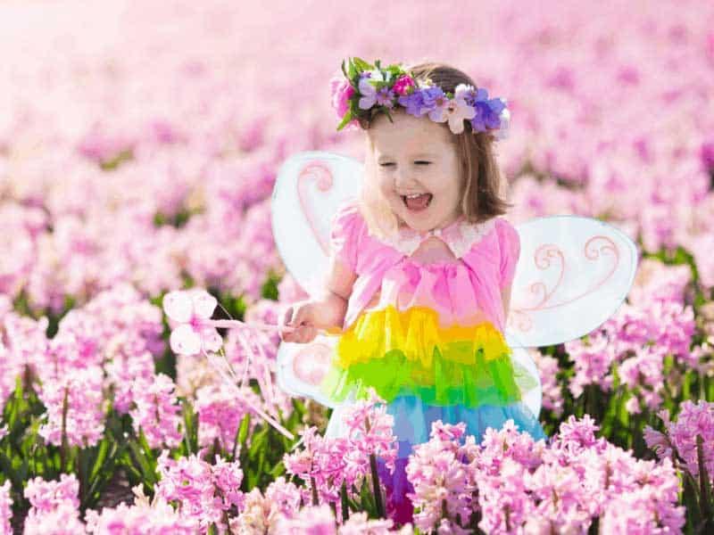 Child In Fairy Garden
