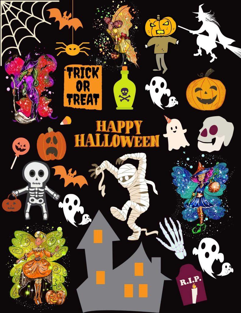Halloween All Over Print 8.5x11