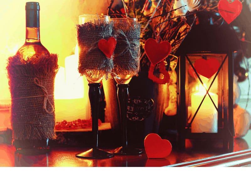 valentine's date fairy garden