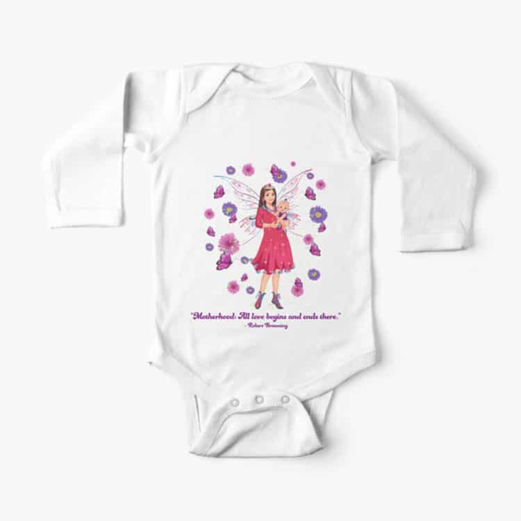 floral background and border baby one piece