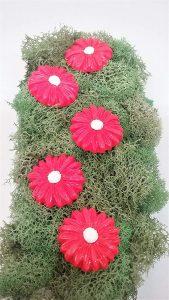 hot pink daisy flower miniature fairy garden stepping stones