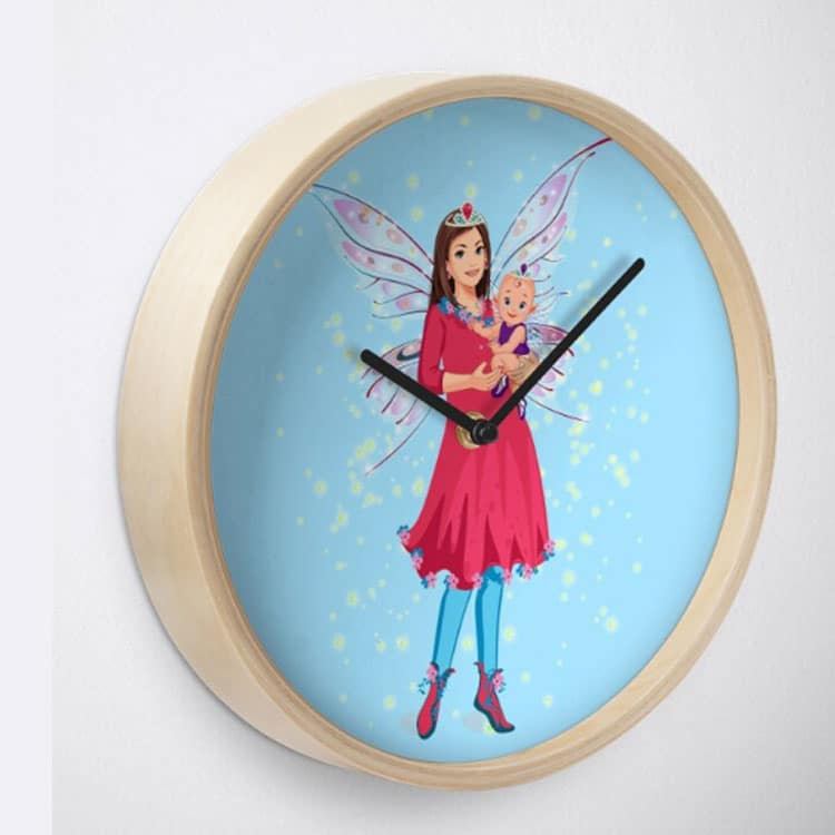 mariane the mother's day fairy blue leggings clock