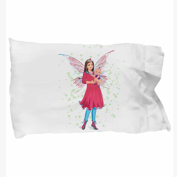 mariane the mother's day fairy blue leggings pillowcases