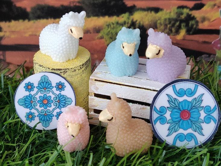 cute lamas perfect for your fairy garden