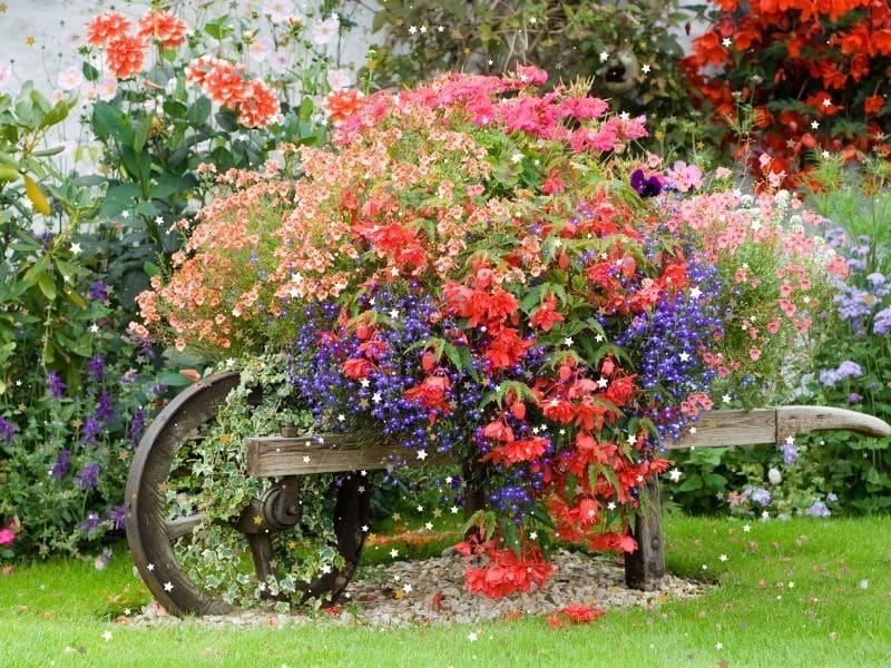 floral fairy garden
