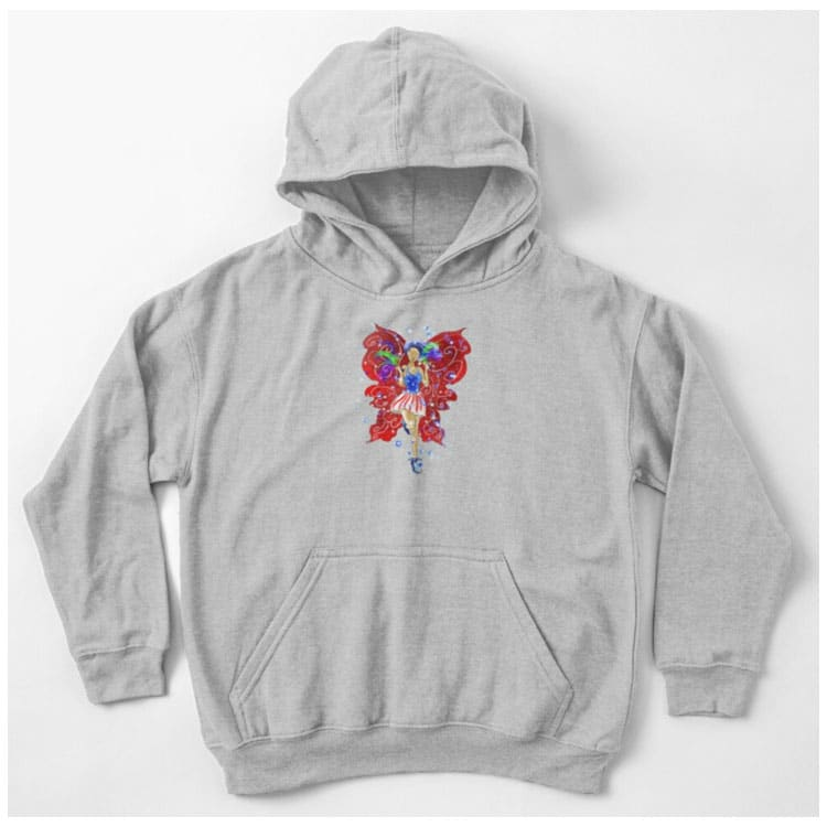 patriotic patsy the 4th of july fairy kids pullover hoodie