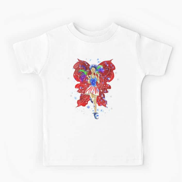 patriotic patsy the 4th of july fairy kids t shirt