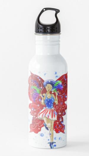 Patriotic Patsy water bottle