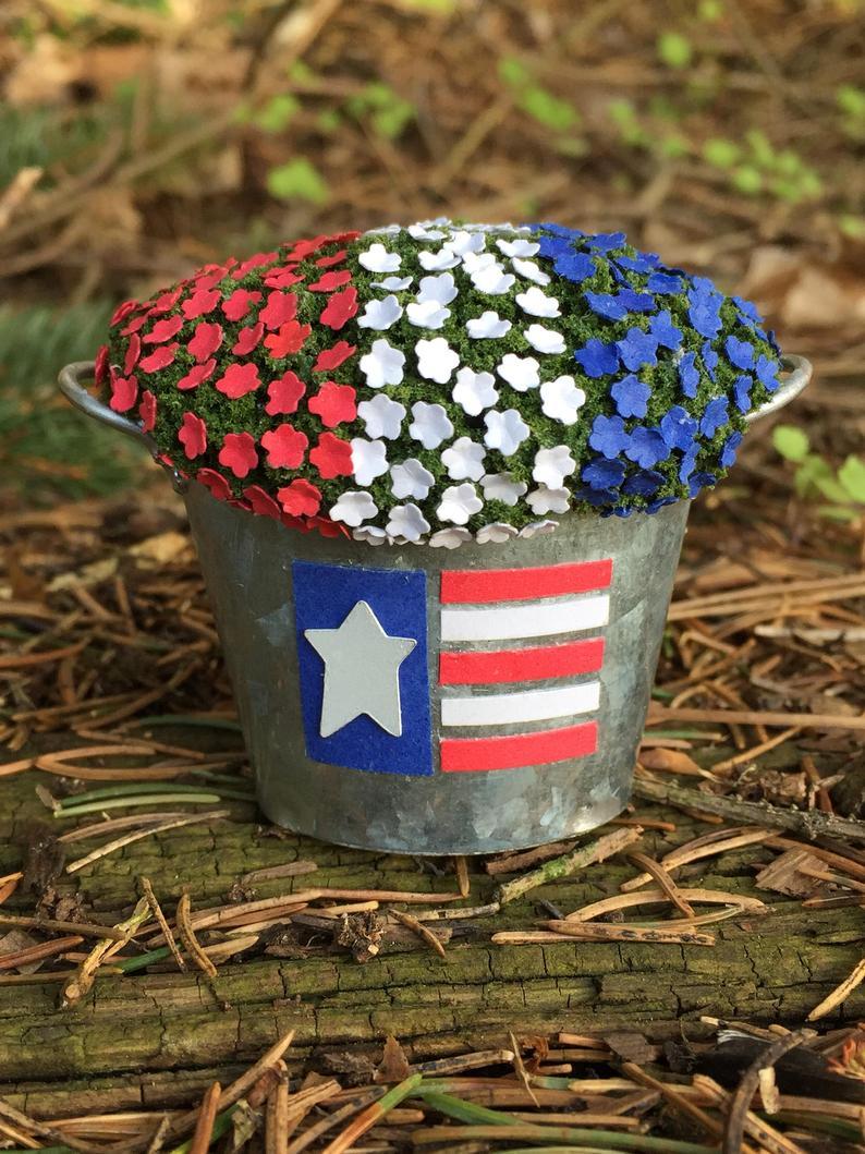 RWB Flower bucket