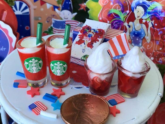 fancy patriotic miniature red drinks