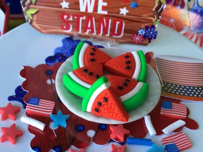 patriotic watermelon slices