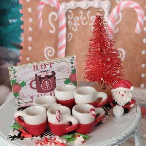 red and white christmas mugs