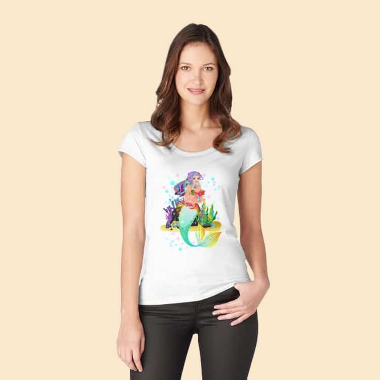 meredith the mermaid™ fitted scoop t shirt