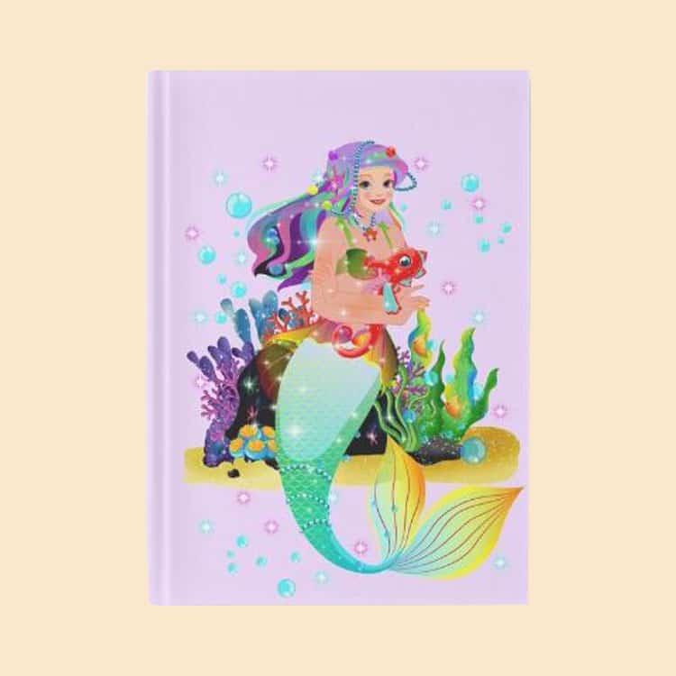 meredith the mermaid hardcover journal