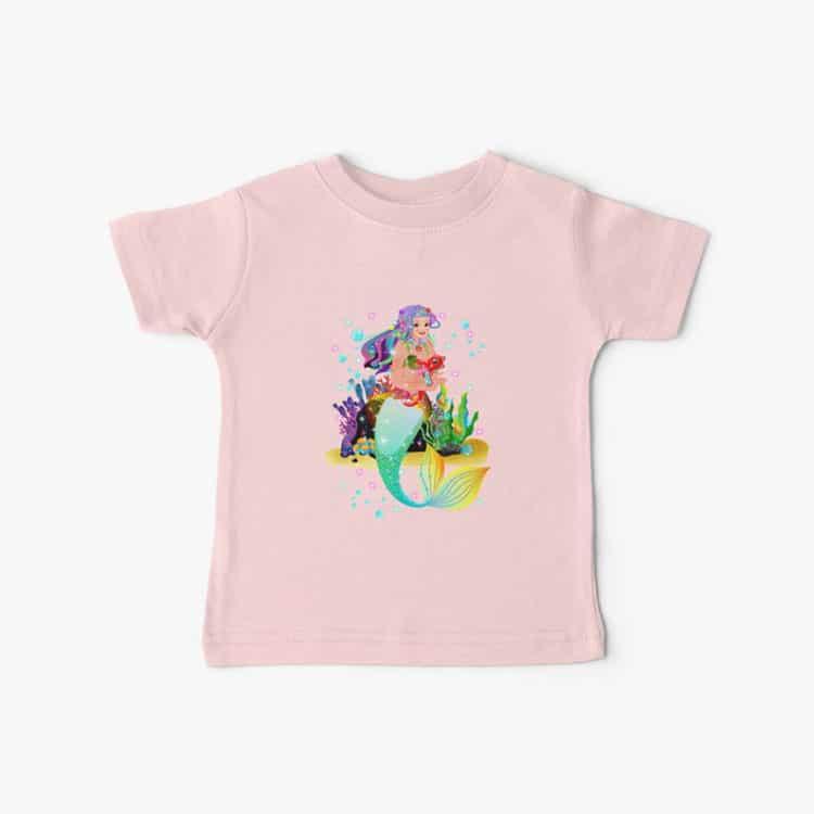 meredith the mermaid baby tshirt