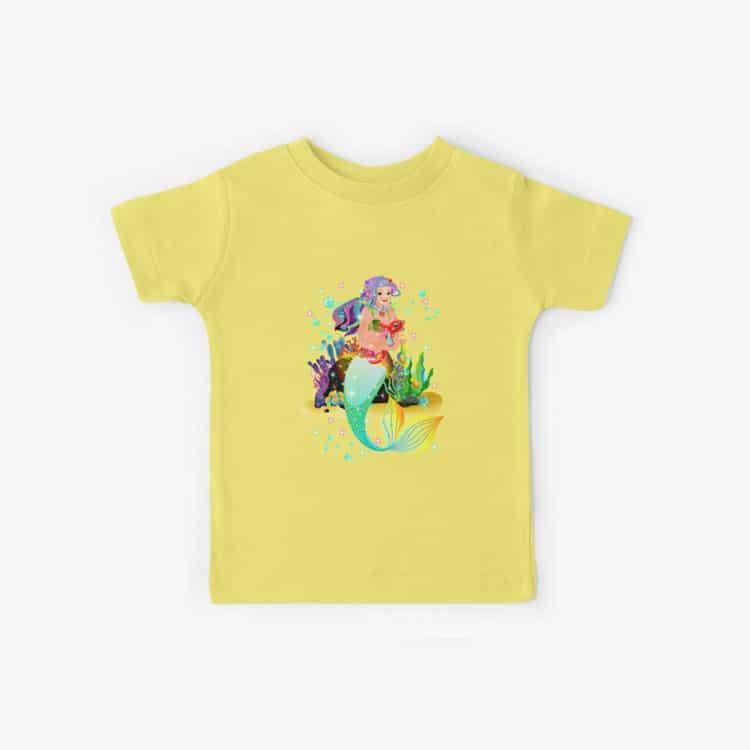 meredith the mermaid kids tshirt