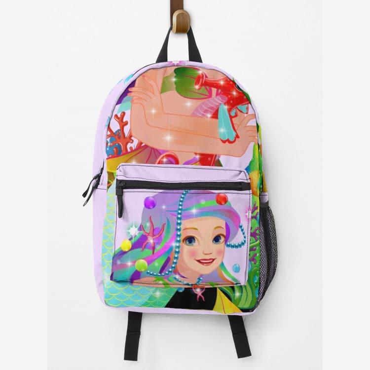 meredith the mermaidbaby backpack