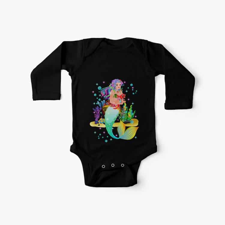 meredith the mermaidbaby onesie