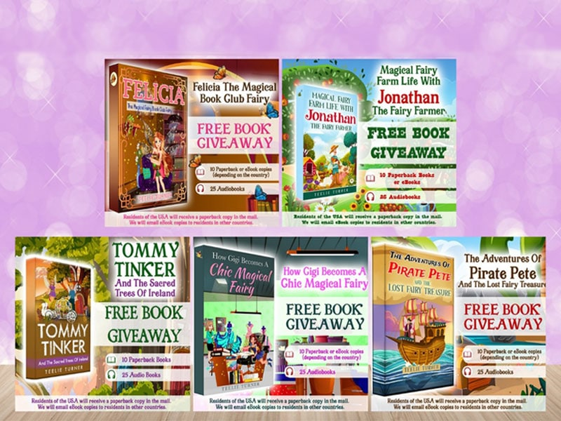 our magical book giveaways!