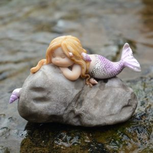 top collection miniature fairy garden and terrarium little mermaid on rock statue