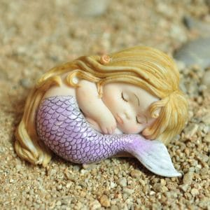 top collection miniature fairy garden and terrarium sleeping little mermaid