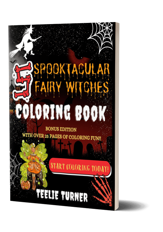 5 spooktacular fairy witches coloring book 3dbook