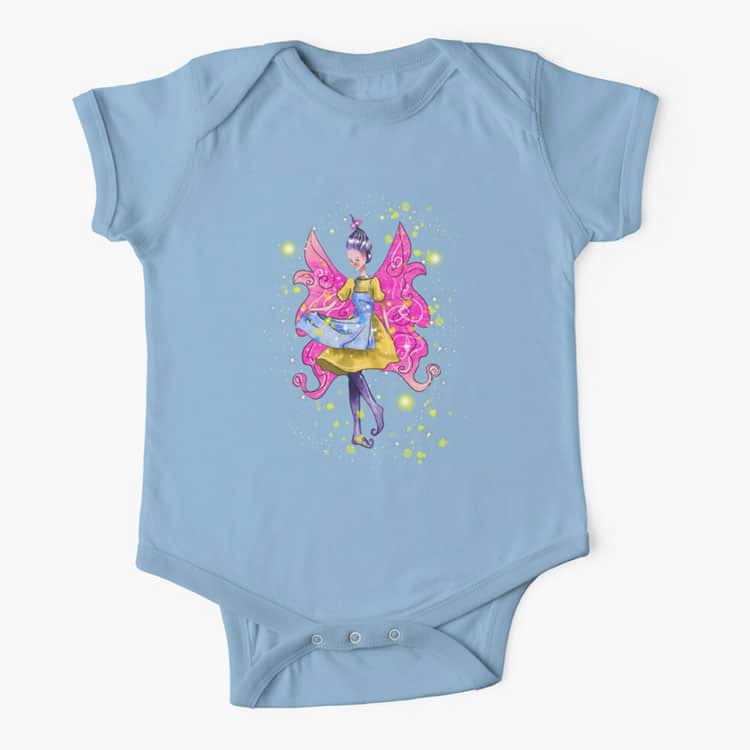 abella the apron fairy baby one piece