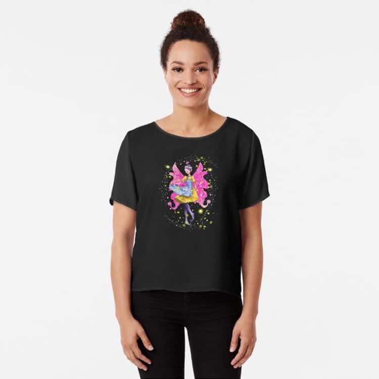 abella the apron fairy chiffon top