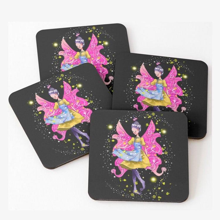 abella the apron fairy coasters (set of 4)