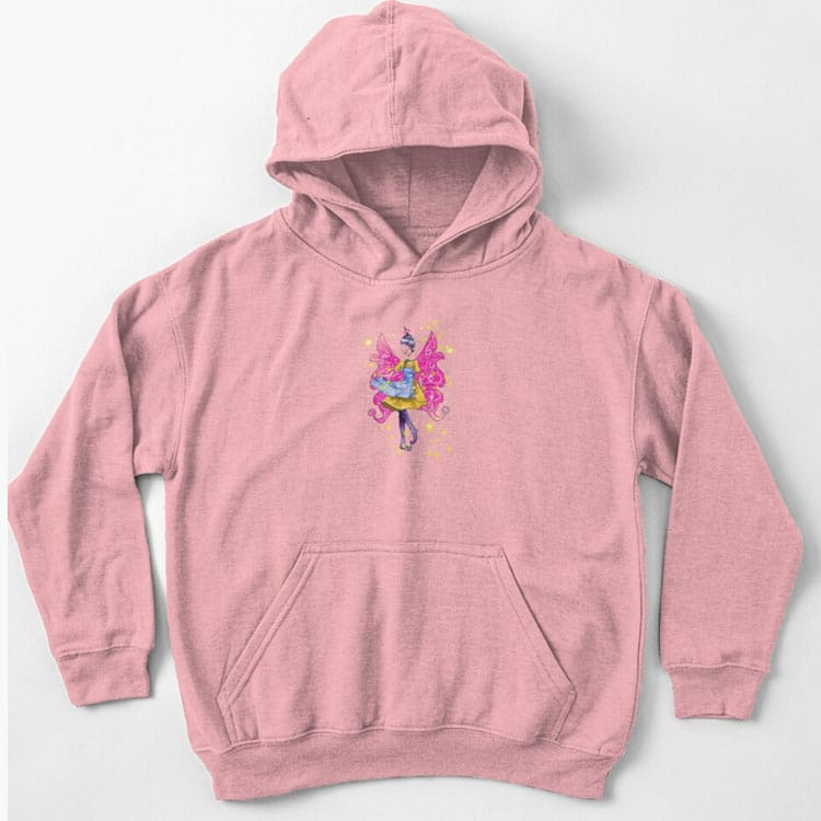 abella the apron fairy kids pullover hoodie