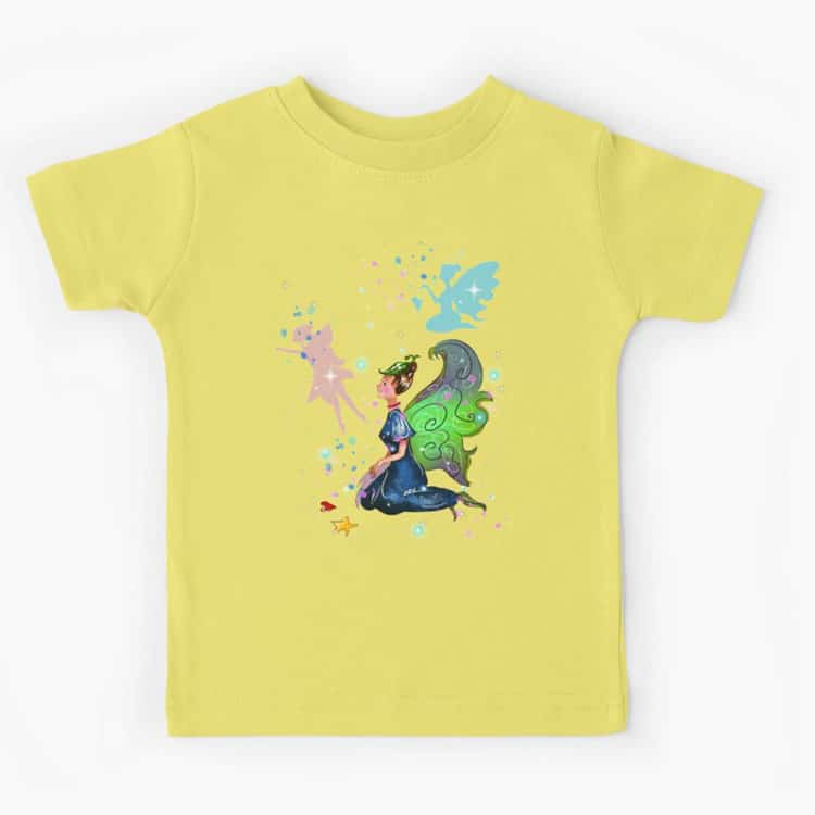 delicia the decal fairy™ kids t shirt