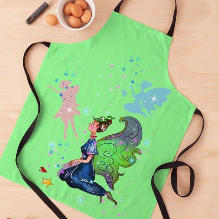 delicia the decal fairy apron