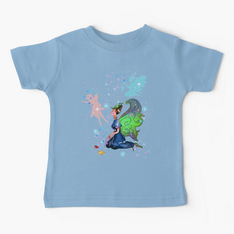 delicia the decal fairy baby t shirt