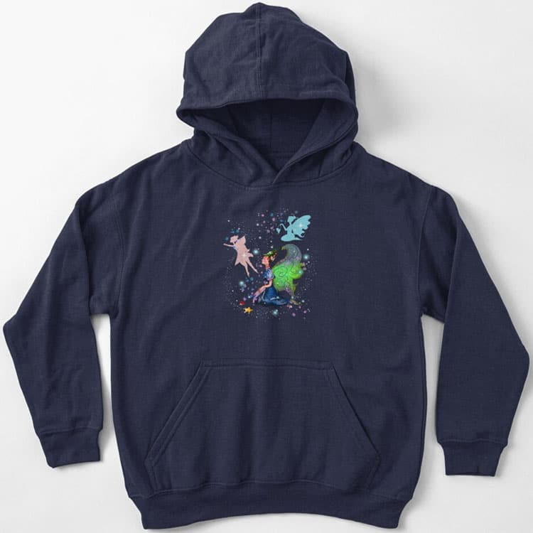delicia the decal fairy kids pullover hoodie