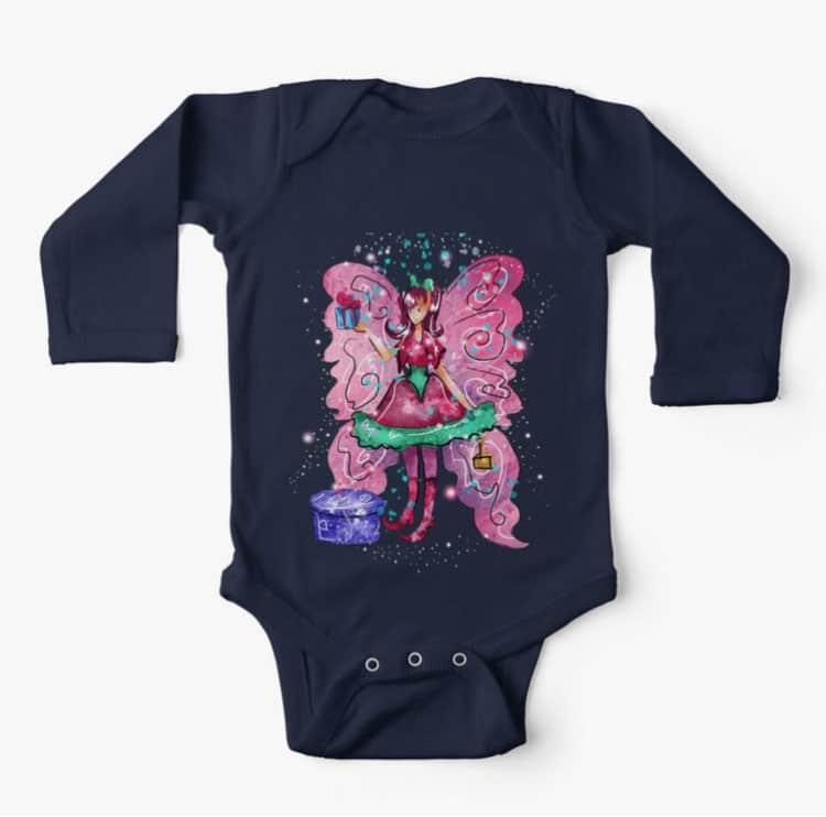 githa the gifting fairy baby longsleeve