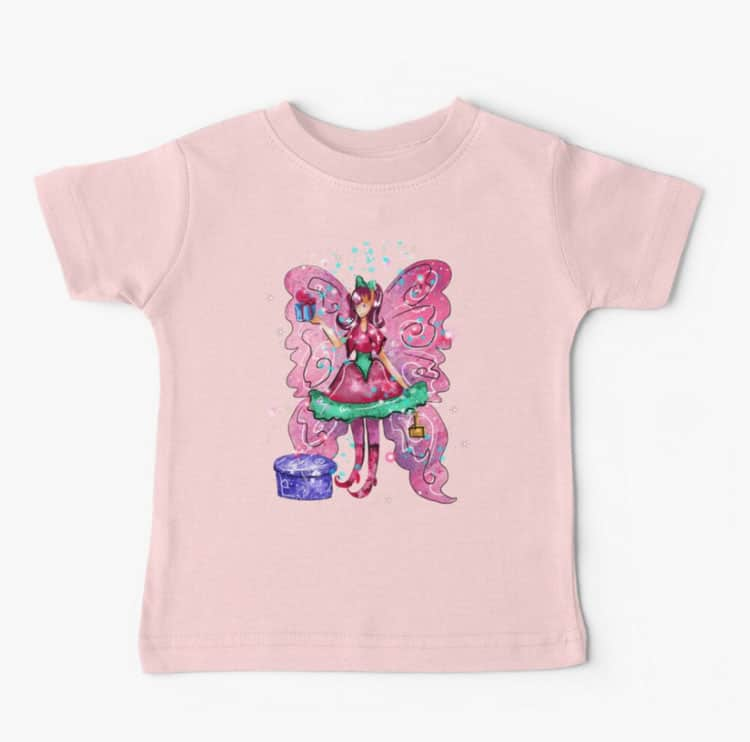 githa the gifting fairy baby tshirt