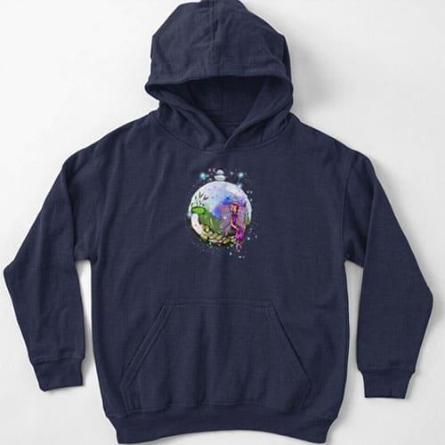 idalis the indoor gardening fairy baby hoodie