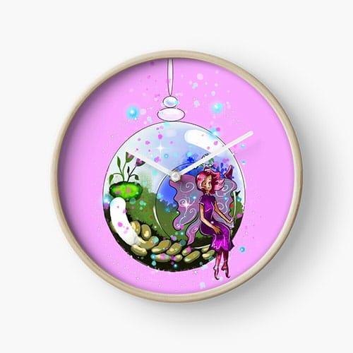 idalis the indoor gardening fairy clock