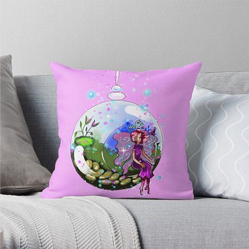 idalis the indoor gardening fairy pillow