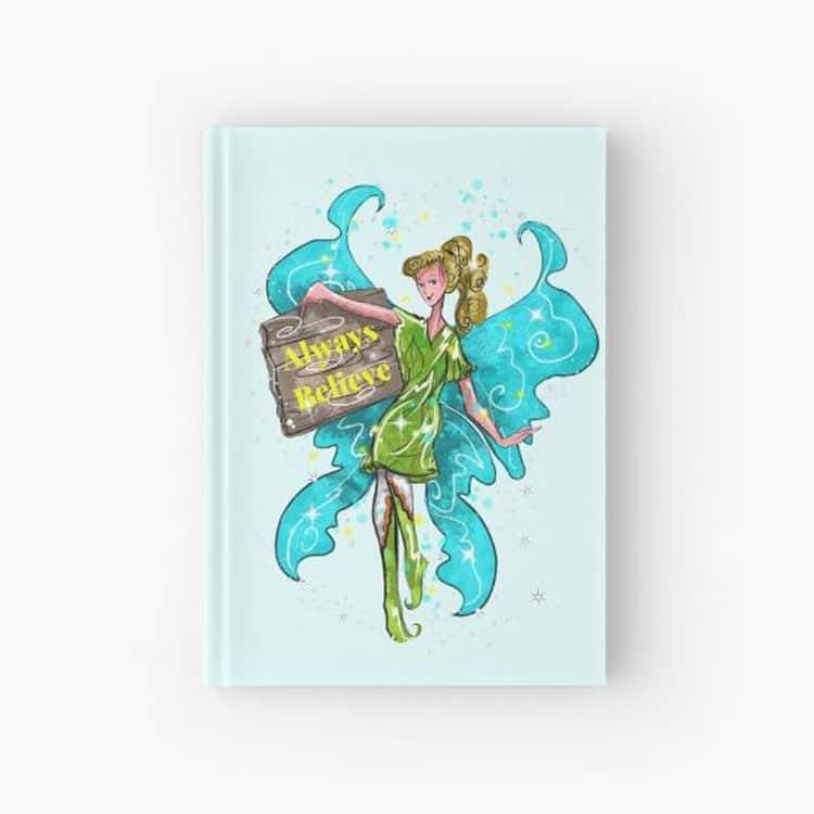 iva the inspirational fairy hardcover journal