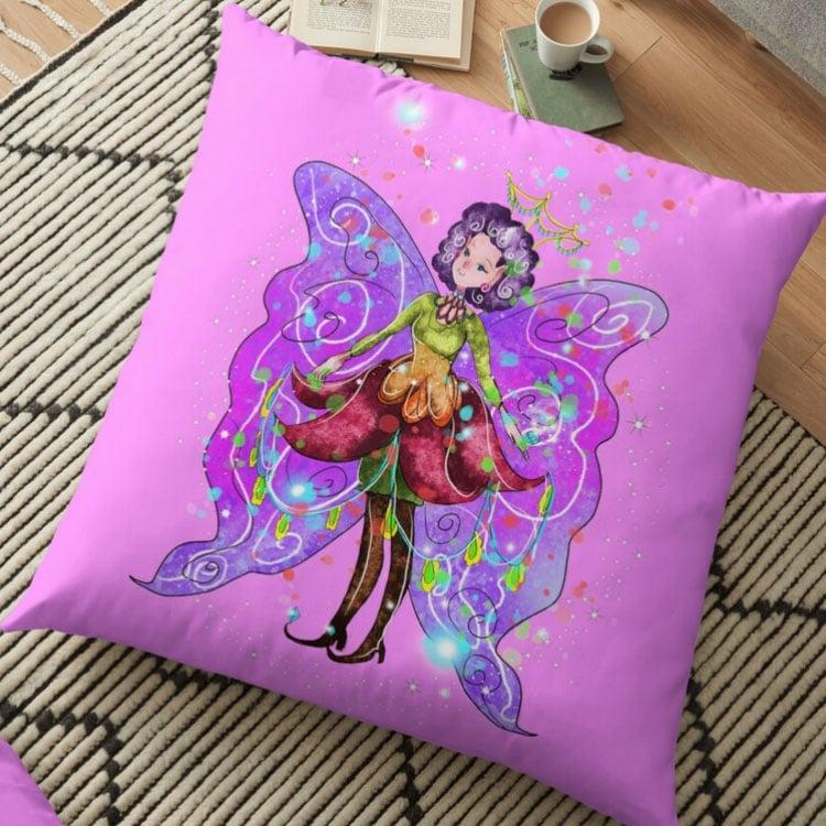 jenessa the jewelry fairy pillow