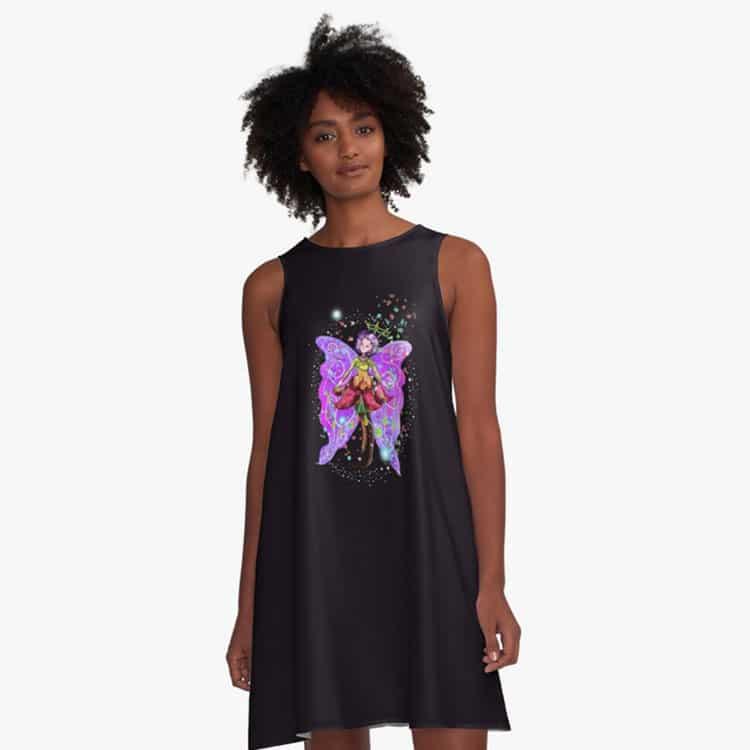 jenessa the jewelry fairy a line dress
