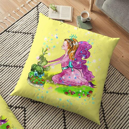 qiana floor pillow