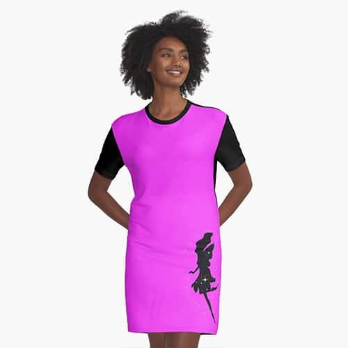 shadow fairy tshirt dress