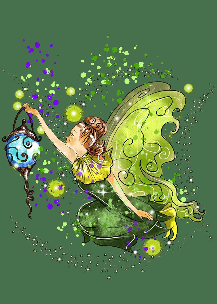 sparkled heloisefairy holding a fairy lamp