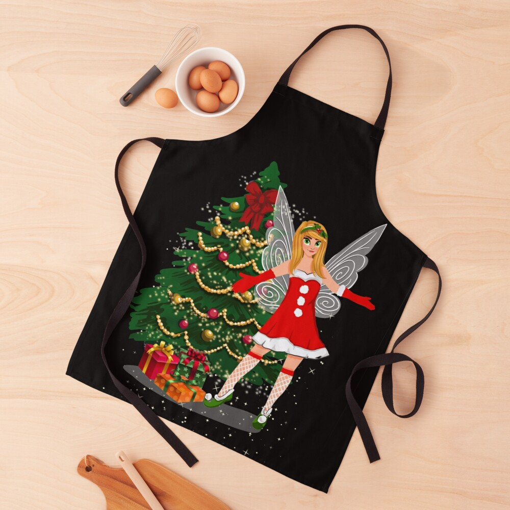 this is holly's magical fairy tale christmas™ apron