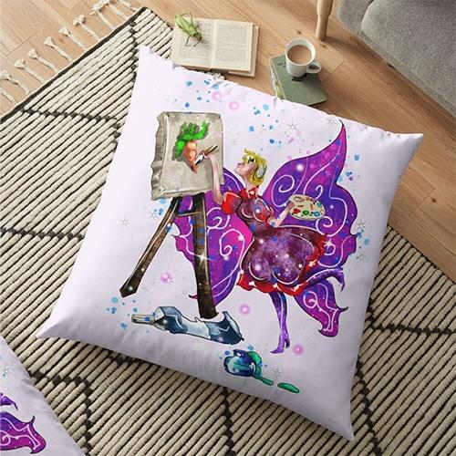 tianna the t shirt fairy pillow