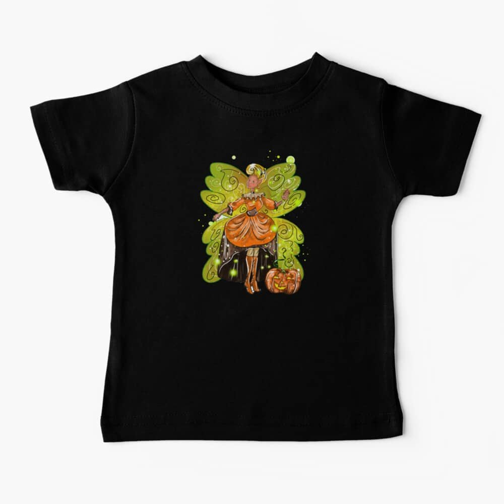 hallie's fairy halloween holiday store™ baby t shirt