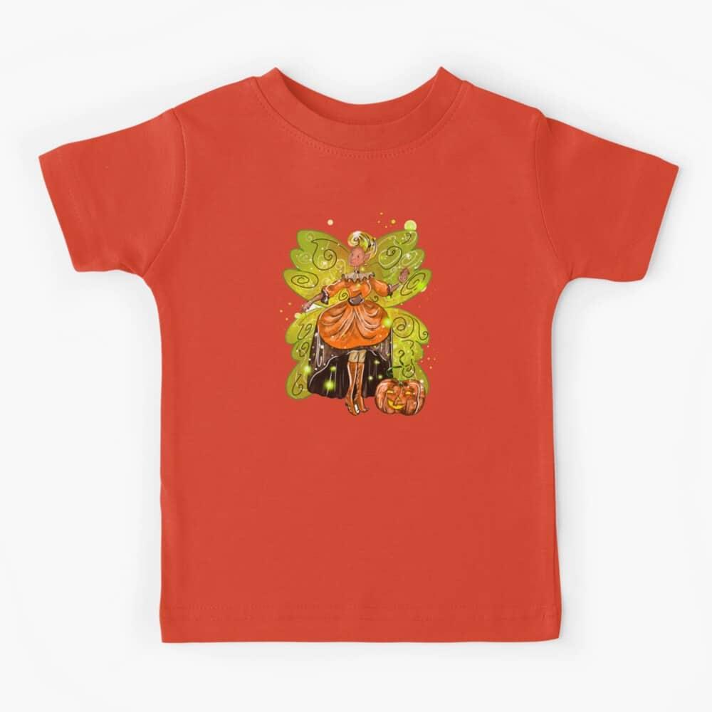 hallie's fairy halloween holiday store™ kids t shirt